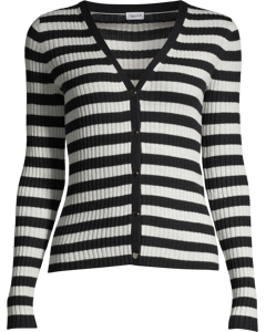 Striped Cardigan Navy/offwhite