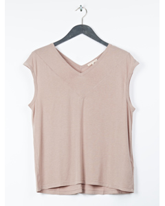 Cap-sleeve Tee Dusty Pink