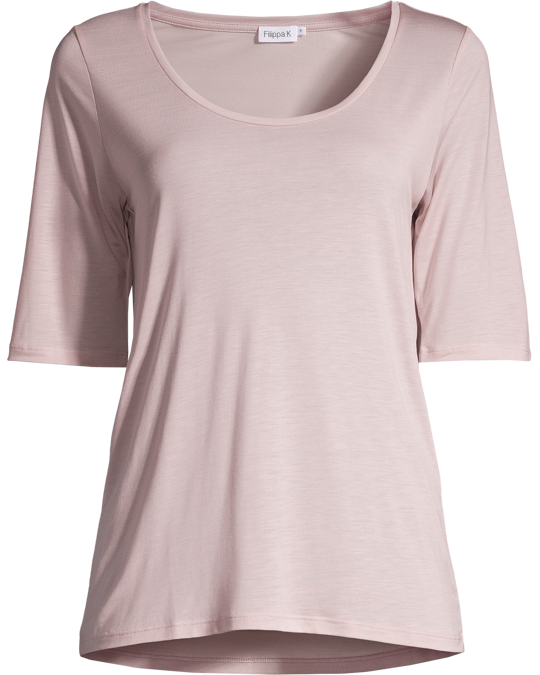 Filippa K Tencel Scoop Neck Tee Frosty Pink