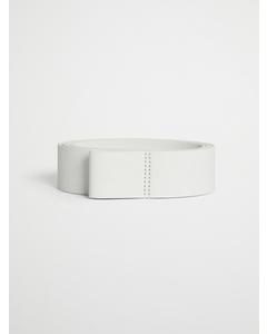 Wrap Leather Belt White