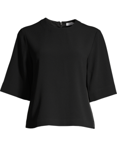 Satin Crepe Top Black
