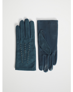 Studded Gloves Ink Suede