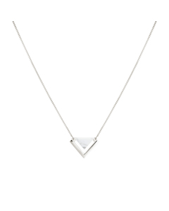 Angled Necklace  Silver Howlite