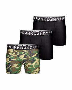 3 Pack Camo Boxer Green/black