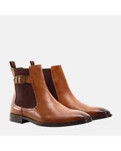 Buckle Chelsea Boot Tan