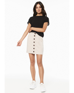Alice Button Skirt Sand