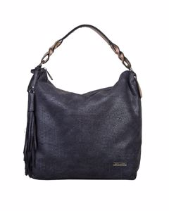 Scarlett Braided Hobo Dark Blue