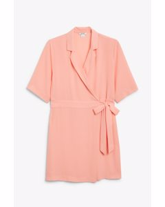 Shirt Mini Dress Pale Peach