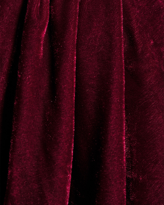 Whyred Elay V-neck Velvet Burgundy