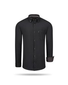 Cappuccino Italia Regular Fit Overhemd Black Svart