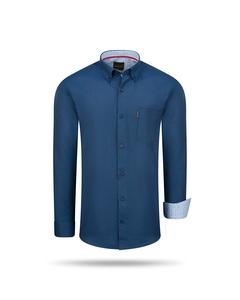 Cappuccino Italia Regular Fit Overhemd Navy Bla