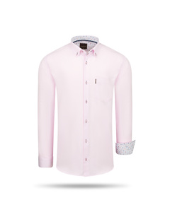 Cappuccino Italia Regular Fit Overhemd Pink Rosa