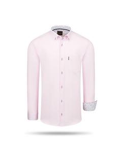 Cappuccino Italia Regular Fit Overhemd Pink Rosa