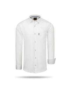 Cappuccino Italia Regular Fit Overhemd White Shite