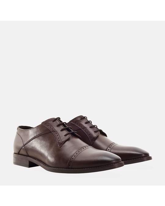 Redfoot Shoes Mens Brown Toe Cap Derby