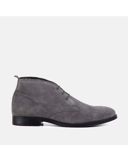 Redfoot Shoes Mens Grey Desert Boot