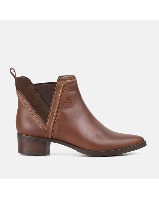 Redfoot Shoes Ladies Brown Pointed Toe Chelsea Boot