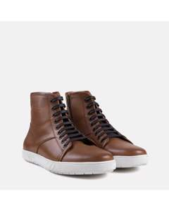 Mens Tan Leather High Top