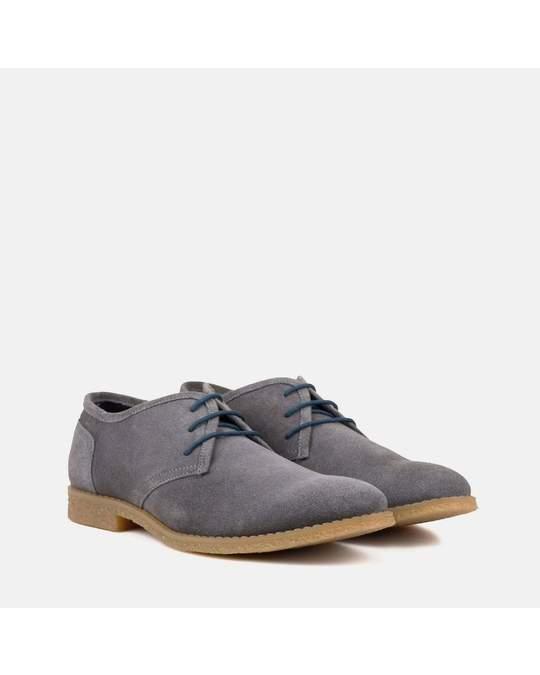 Redfoot Shoes Mens Grey Desert Shoe