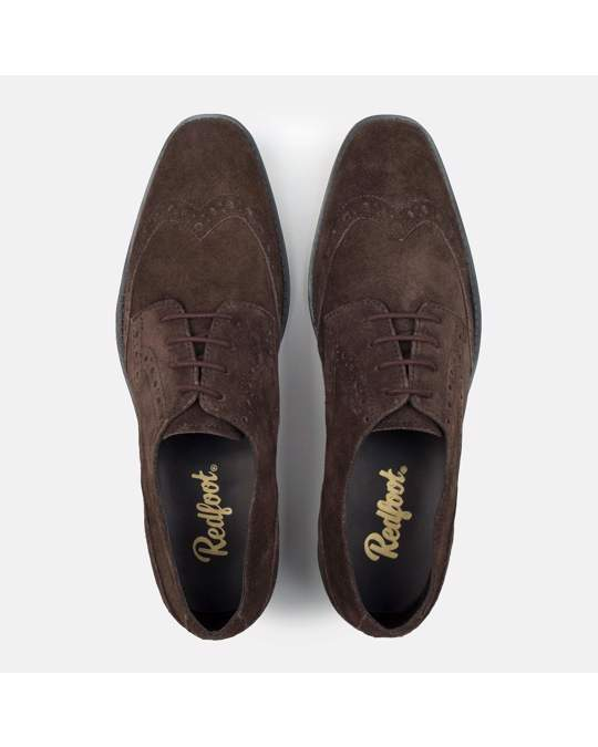 Redfoot Shoes Mens Rf Harris Brown Suede Brogue
