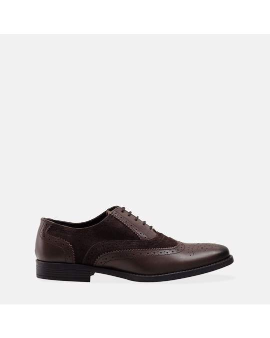 Redfoot Shoes Mens Brown & Stone Gatsby Brogue Shoe