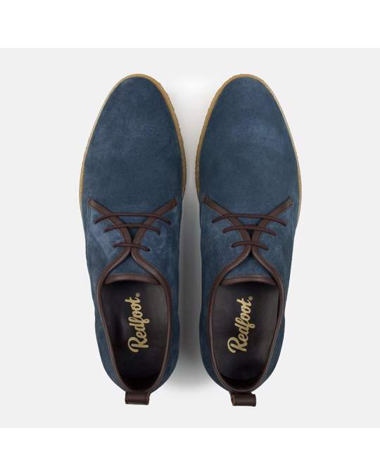 Redfoot Shoes Mens Rf Lewis Navy Suede Desert Shoe