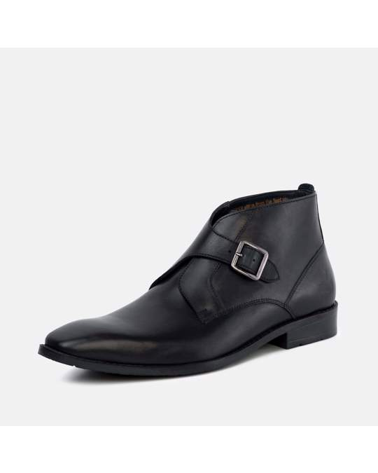 Goodwin Smith Mens Logan Black Monk Strap Boot