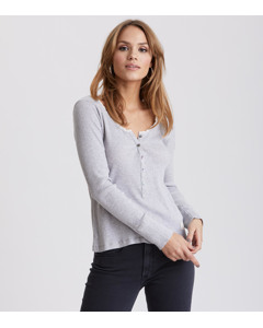 Fella L/s Top Light Grey Melange