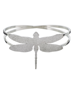 Dragonfly Bangle Sparkle Steel