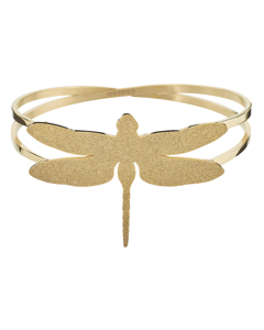 Dragonfly Bangle Sparkle Gold