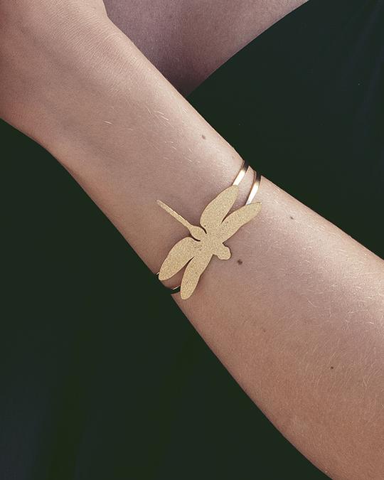 Edblad Dragonfly Bangle Sparkle Gold