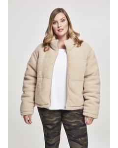 Damen Ladies Boxy Sherpa Puffer Jacket