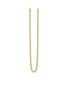Anchor Chain 925 Sterling Silver; 18k Yellow Gold Plating
