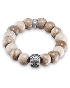 Bracelet Power Bracelet Brown Ethnic 925 Sterling Silver, Blackened