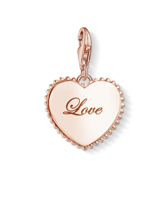 Charm Pendant 'token Of Love' 925 Sterling Silver; 18k Rose Gold Plating