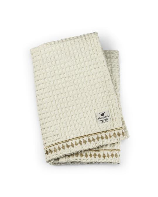 Elodie Details Cotton Waffle Blanket White