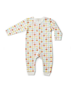 Onesie Waves  White/multi