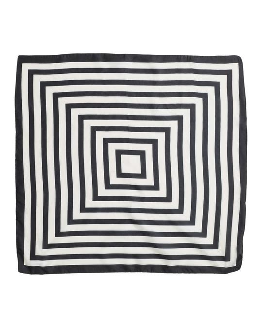 Edblad Square Silk Scarf Off White