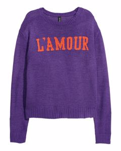 Chrissie L'amour Jumper Purple