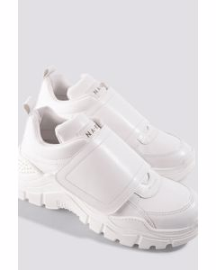 Big Velcro Chunky Trainers White