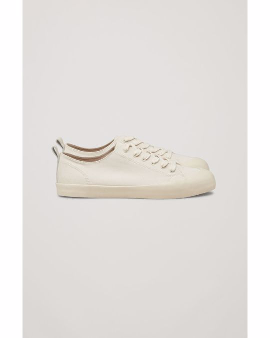 COS CANVAS SNEAKERS Ivory