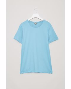 T-shirt With Rolled Edges Turquoise