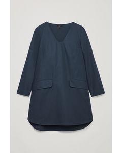 VOLUMINOUS A-LINE DRESS Midnight blue