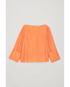 CHANGEABLE SILK BLOUSE Burnt orange