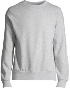 Adams Basic Crewneck Grey Melange