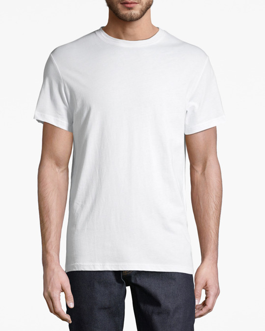 AFOUND OBJECTS Basic Tee Mens White