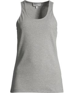 Basic Racer Tank Women  Grey Melange