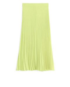 Plissé Skirt Yellow