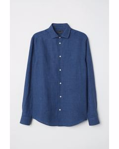 Hugh Linen Shirt Blue