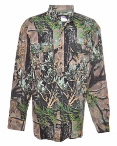 2000s Dickies Camouflage Denim Shirt